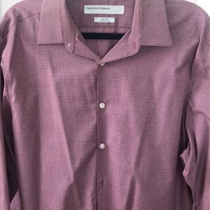Men's dress shirt dark red 16 1/2 , 34/35